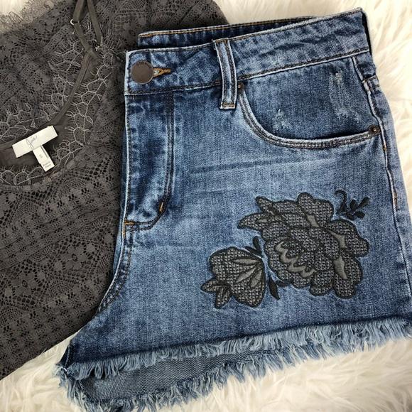 c6f5d55a53 STS Blue Shorts | Denim Flower Embroidery High Rise | Poshmark